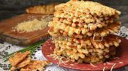 Фото рецепта Вафли с овсяными хлопьями и сыром