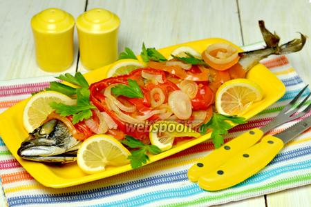 Фото рецепта Скумбрия с горчицей по-провансальски