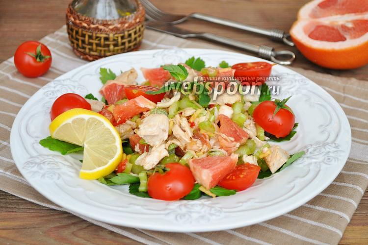 Фото Тайский салат с курицей и грейпфрутом