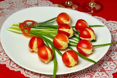 Закуска «Тюльпаны» из помидоров
