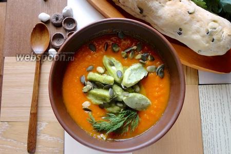 Тыквенный суп-пюре с клёцками