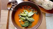 Фото рецепта Тыквенный суп-пюре с клёцками