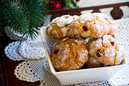 Мягкое печенье с клюквой