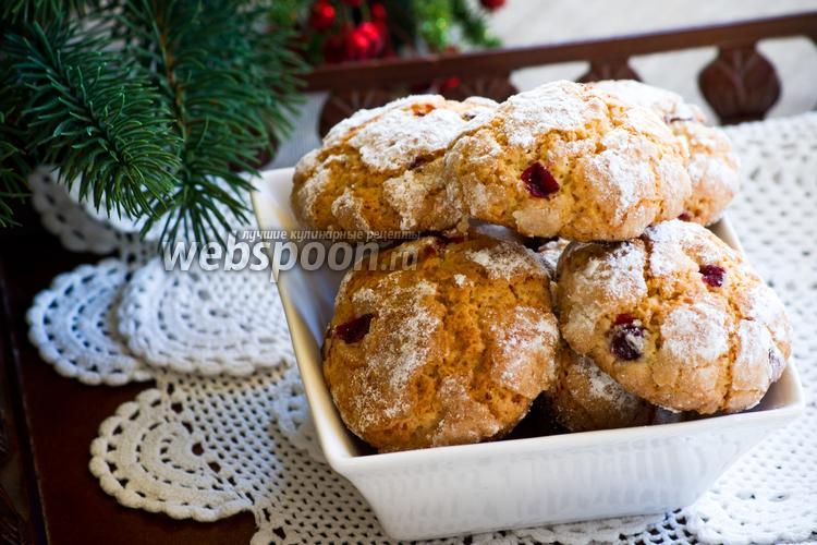 Фото Мягкое печенье с клюквой