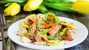 Фото рецепта Форель с овощами на гриле