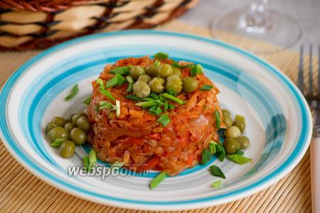 Рис с овощами и капустой