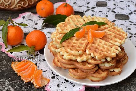 Крахмальные вафли с мандариновым вкусом