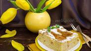 Фото рецепта Ароматный грушевый пирог на йогурте