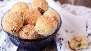 Фото рецепта Кокосовое печенье с изюмом