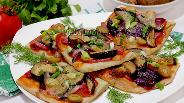 Фото рецепта Мини-пиццы с грибами и луком