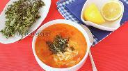 Фото рецепта Томатный суп с пастой орзо