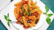 Фото рецепта Фузилли с томатным соусом и баклажанами