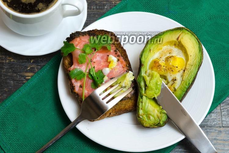 Фото Перепелиные яйца, запечённые в авокадо