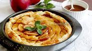 Фото рецепта Яблочный пирог с солёной карамелью