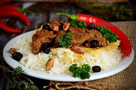 Рис с бараниной на кефире