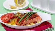 Фото рецепта Форель запечённая в домашнем соусе