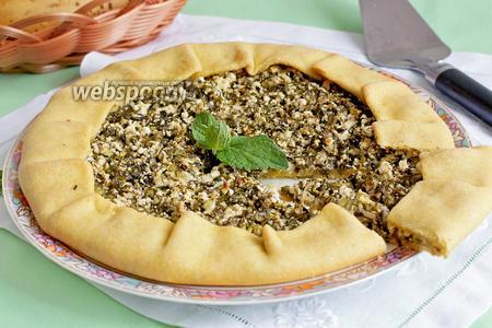 Фото рецепта Галета с творогом и зеленью