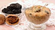 Фото рецепта Молочный крем с черносливом и орехами