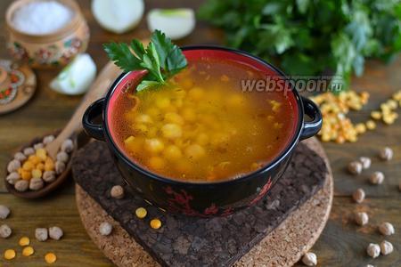 Гороховый суп с беконом и нутом