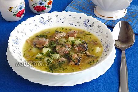 Суп с консервированной сайрой