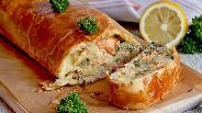 Фото рецепта Рулет с сёмгой и зеленью