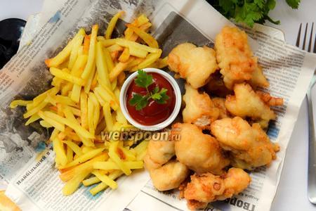 Фото рецепта Fish & Chips (во фритюре)