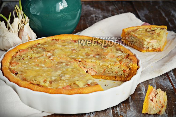 Фото Морковный пирог с форелью