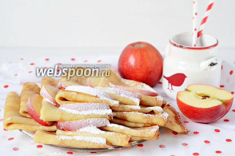 Фото Яблочные блинчики