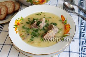 Гороховый суп-пюре с бараниной