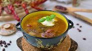 Фото рецепта Фасолевый суп с грибами