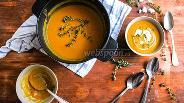 Фото рецепта Крем-суп из моркови и красной чечевицы