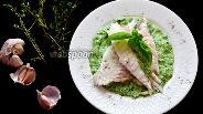 Фото рецепта Дорада со шпинатным соусом