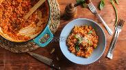 Фото рецепта Перловка с перцем и томатами