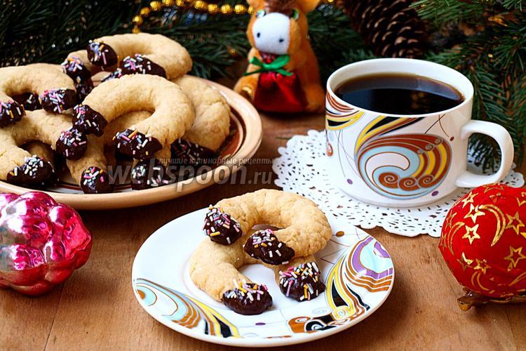 Фото Песочное печенье «Подковки»
