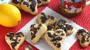 Фото рецепта Ореховое печенье «Сердечки»