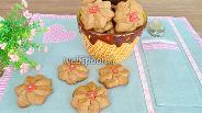 Фото рецепта Шоколадное печенье с марципаном