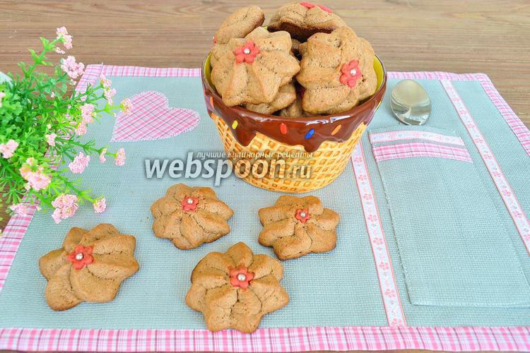 Фото Шоколадное печенье с марципаном