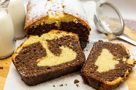 Кекс с шоколадно-ореховой пастой