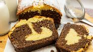 Фото рецепта Кекс с шоколадно-ореховой пастой