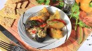 Фото рецепта Скумбрия запечённая в духовке с картошкой