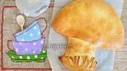 Фото рецепта Пирог с грибами и капустой