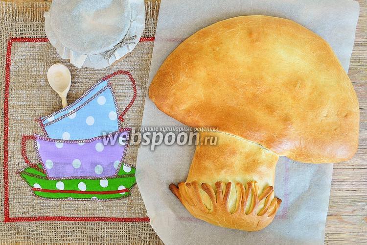 Фото Пирог с грибами и капустой