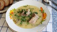 Фото рецепта Гороховый суп-пюре с бараниной
