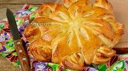 Фото рецепта Дрожжевой пирог с зефирными прослойками