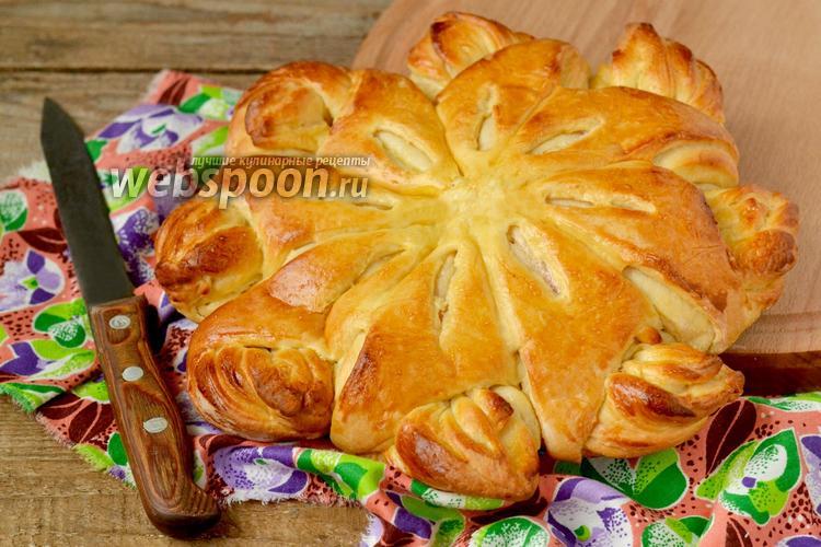 Фото Дрожжевой пирог с зефирными прослойками