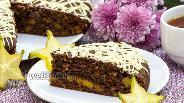 Фото рецепта Шоколадно-миндальный пирог с манго