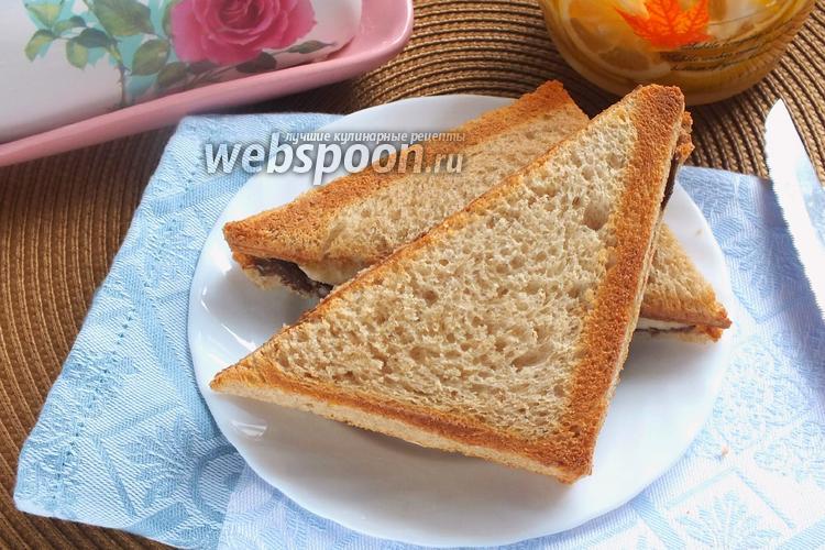 Фото Сладкий сэндвич с бананом