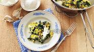 Фото рецепта Яичница со шпинатом по-кавказски