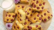 Фото рецепта Миндальный пирог с малиной