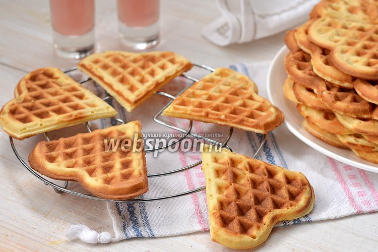Фото Бисквитные вафли на сметане